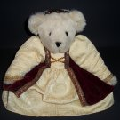 "Authentic Teddy Bear Vermont® Girl Renaissance Red Velvet Logo Eyes Born in Vermont 15"" Doll Plush"
