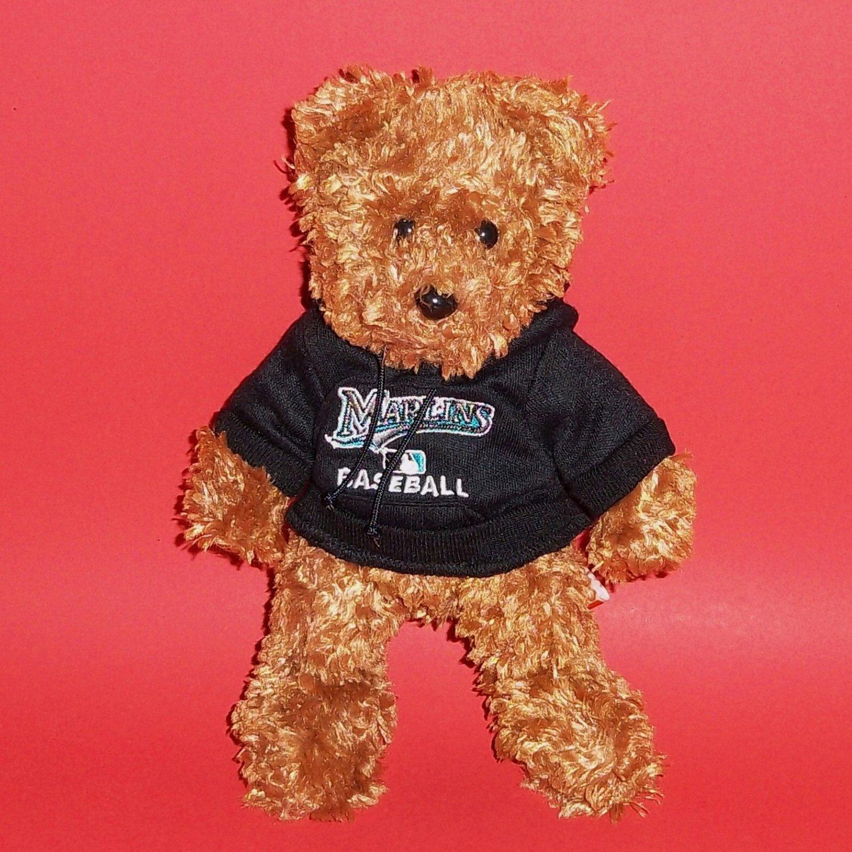 "8"" Marlins Baseball Team Beans Authentic Teddy Bear Fans Hobbies Plush Stuffed"