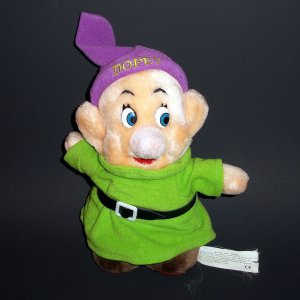 """7"""" The Disney Store Dwarf Dopey Plush Collectible Toy"""