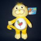 """11"""" 2003 Care Bears Yellow Monkey Plush Collectible  by Nanco"""