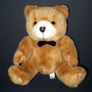 "Steven Smith Teddy Bear Black Bow Tie Plush Stuffed Toy 8"" Tan"