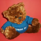 US BALLOON Brown Teddy Bear Soft Plush Toy Blue Outfit Cypress Bay 15""