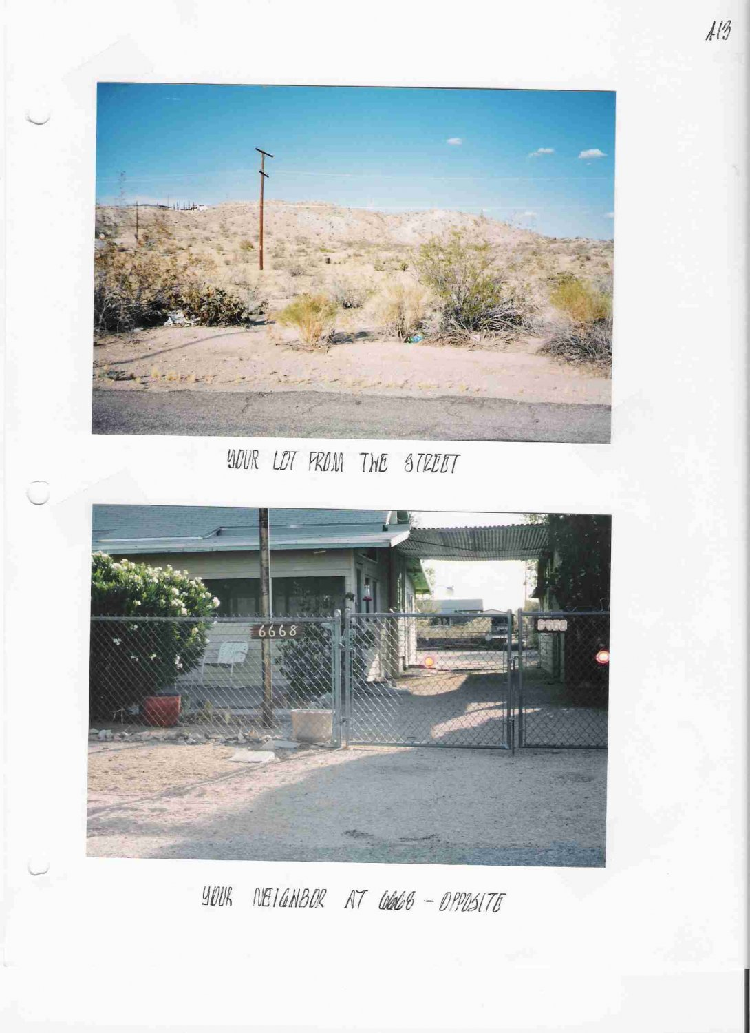 � � Clare Av 29 Palms Land Resi Lot