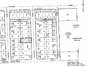 � 49 Palms Ave Resi Lot $0 Down OK Good Usable 29 Palms Land