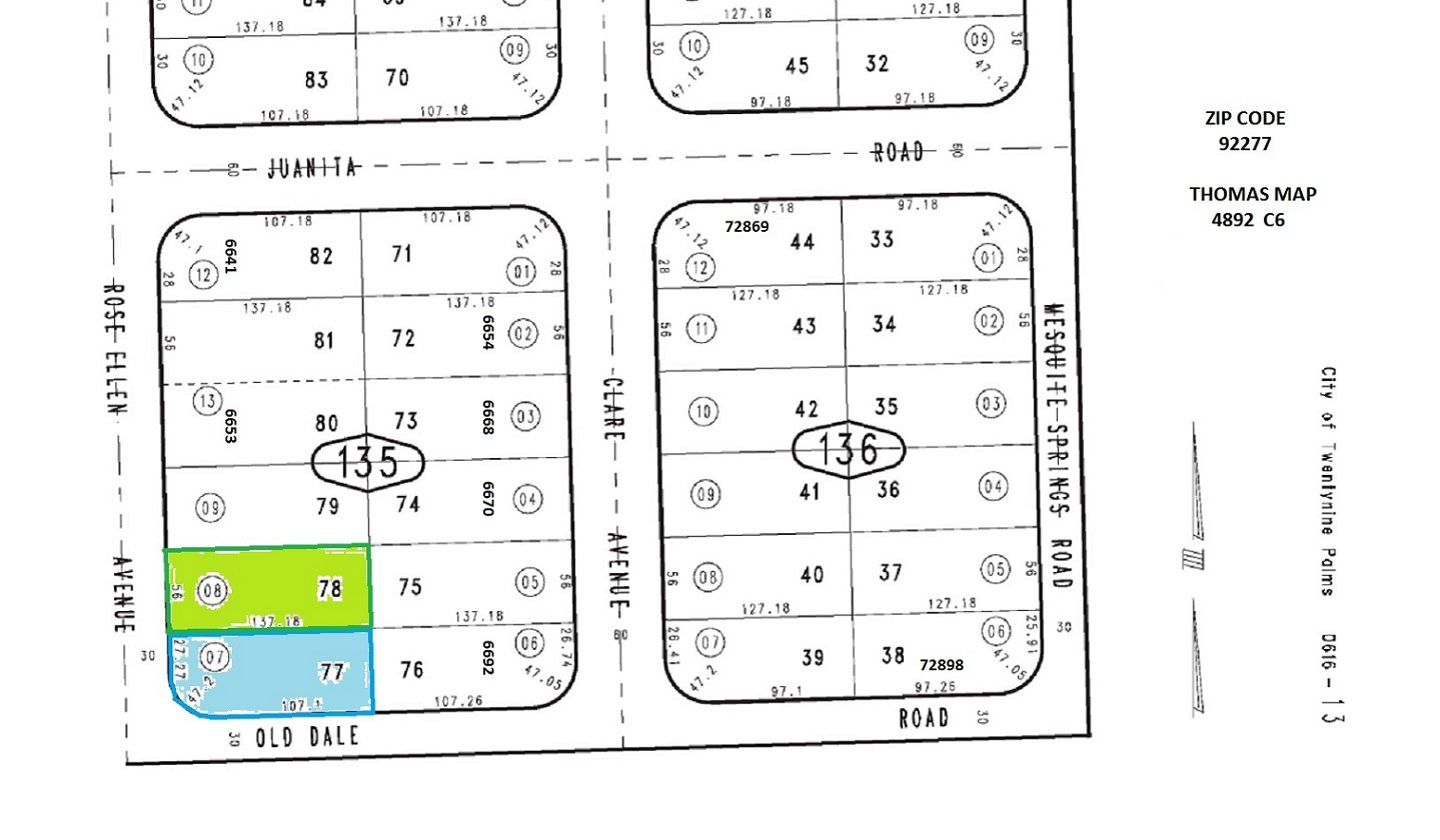 2 Lots Rose Ellen Av 29 Palms (N/E Cor Rose Ellen & Old Dale)