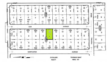 $0 Down to Own 90-Foot Wide Lot Elm Ave 29 Palms