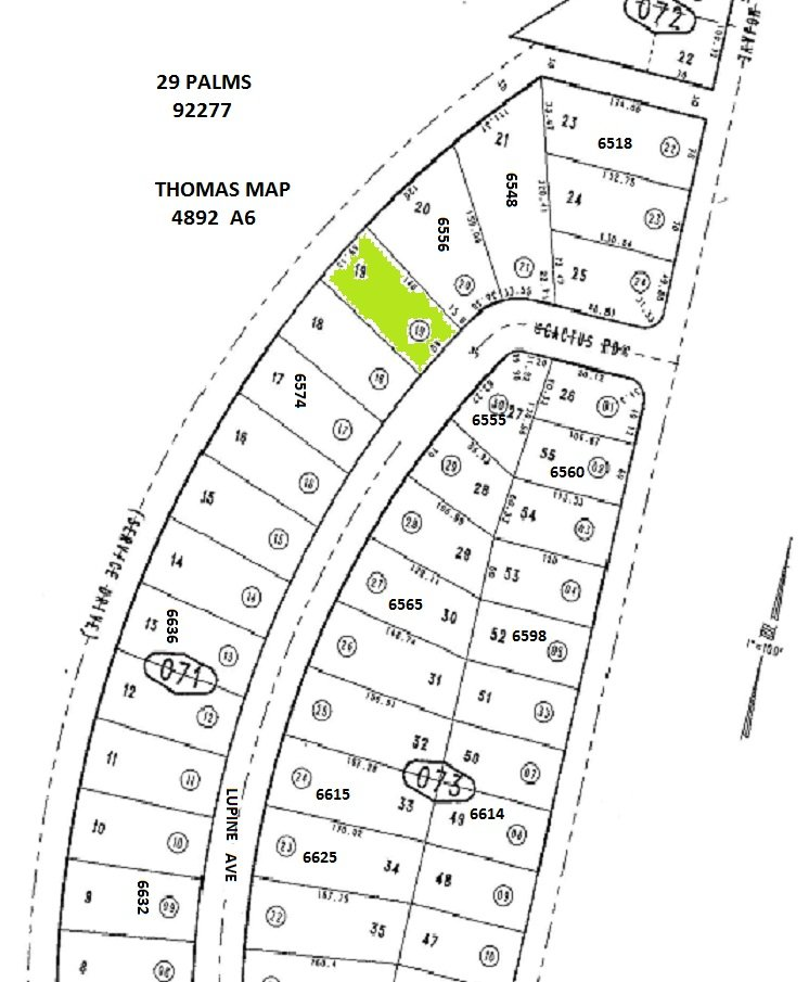 Desirable Land on Lupine Ave, 29 Palms (6556 Lupine Ave, adj to south of)