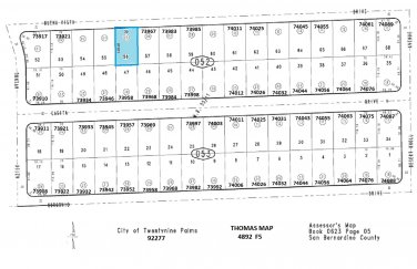 70' Lot With Water Meter Buena Vista Dr, 29 Palms