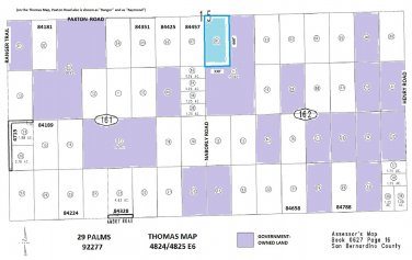 5 Acres Naborly Rd at Paxton, 29 Palms (SE Corner Naborly/Paxton)