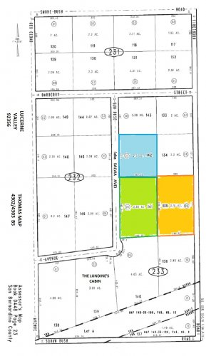 2 Lots Total 8.84 Ac Salvia Ave (aka Sun Rose) Lucerne Valley Each $5400
