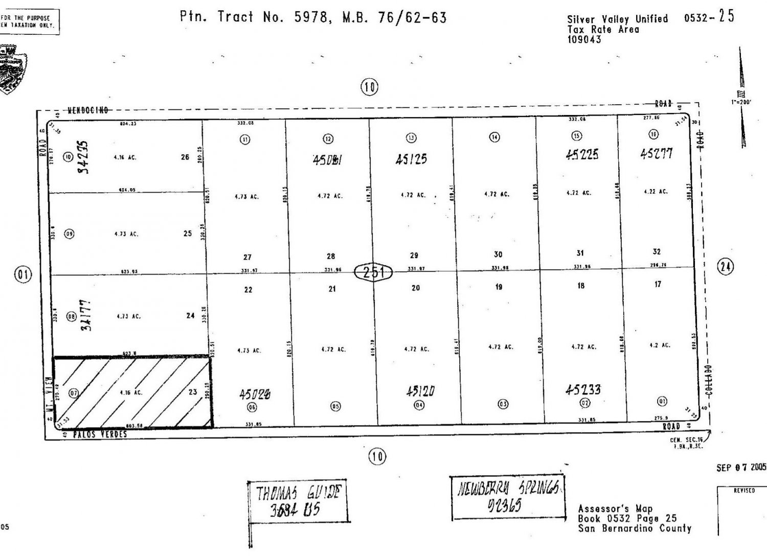 4.16 Acres Newberry Springs Palos Verdes at Mtn View -SOLD