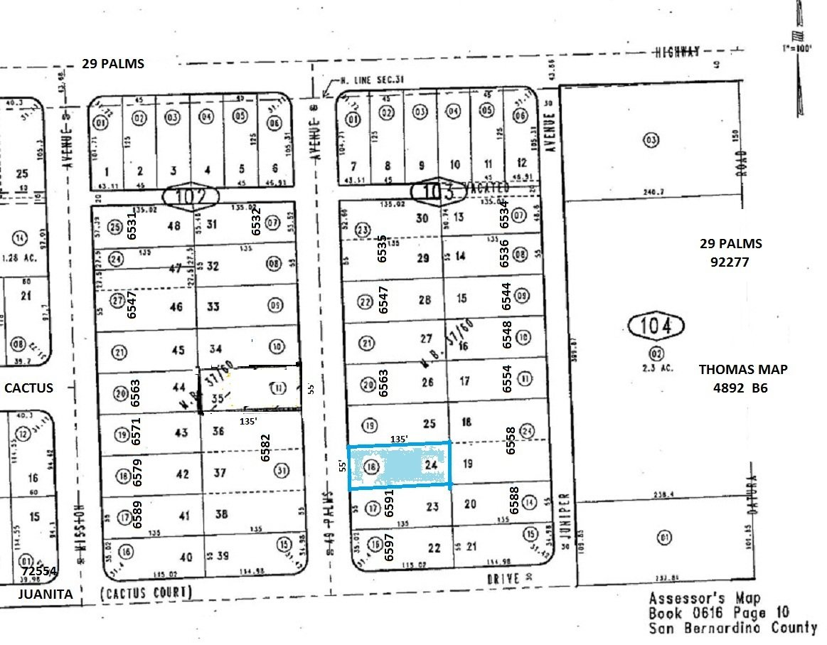 Lot With Water Meter N/of 6591 49 Palms Ave, 29 Palms OFFER PENDING