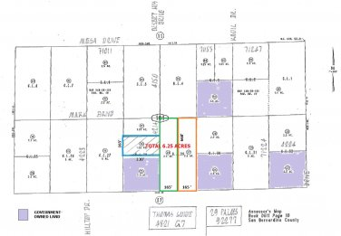 6.25 Acre Family Enclave Desert Hts Dr Water Meters 29 Palms SOLD