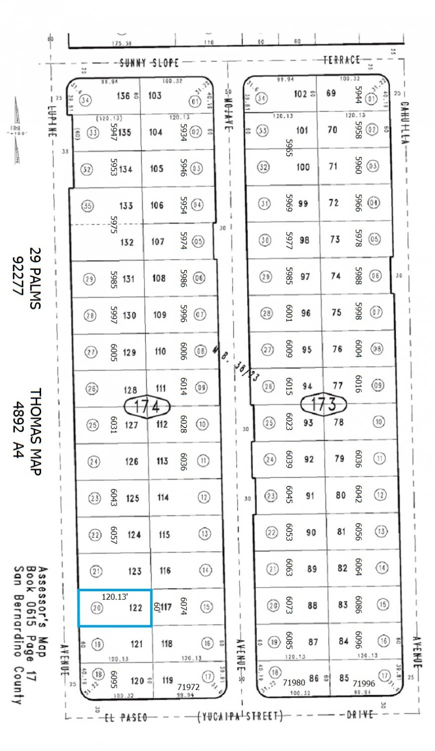 Residential Lot w/Water Meter on Lupine Ave, 29 Palms (Behind 6074 Mojave Ave)