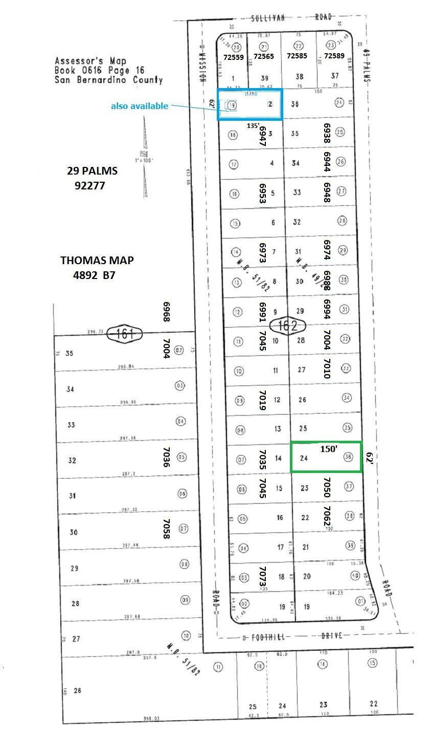 Residential Lot with Water Meter adj 7050  49 Palms Ave, 29 Palms