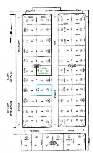 Large Residential Lot South of 6996 Elm Avenue, 29 Palms