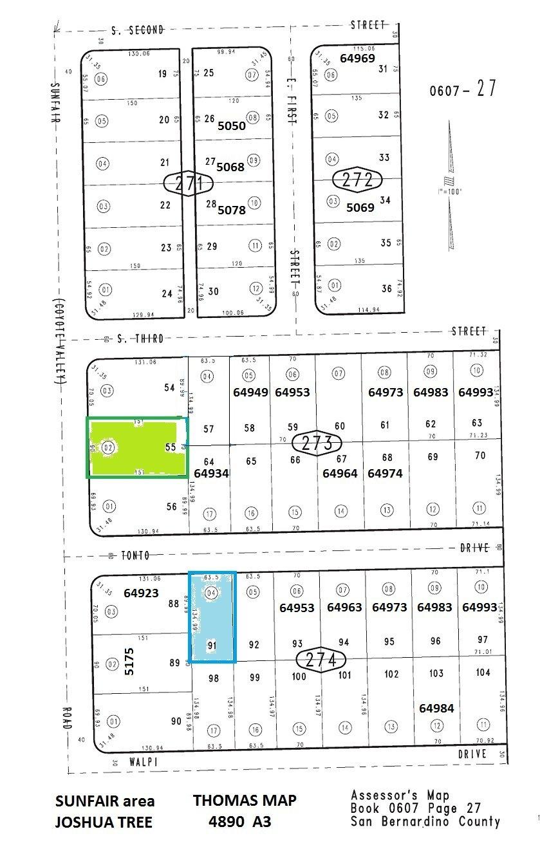 Tonto Dr, Sunfair, Joshua Tree Area 0.20 Acres Resi Lot (64923 Tonto Dr, adj to the East)