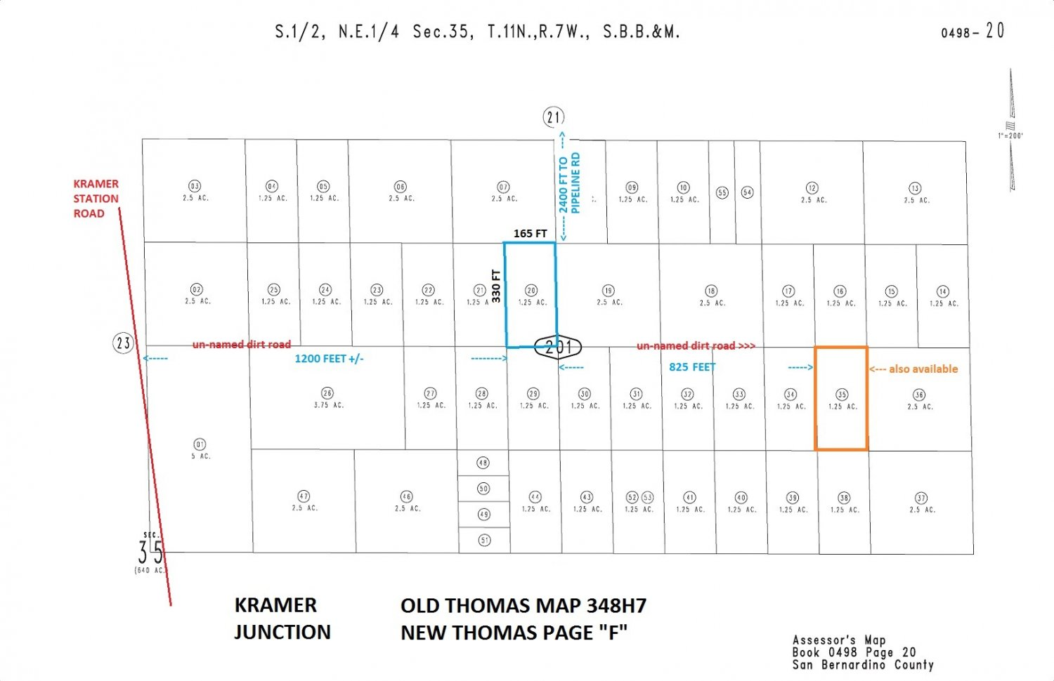 1.25 Acres W of Hwy 395 N of Hwy 58 Near Kramer Junction