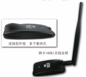 USB Wireless WIFI Adapter 500G 1000mW RTL8187L Chipset 6DBI Antenna Internet Equipment Network Card