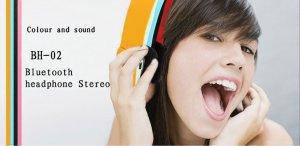 New arrival BH-02 Bluetooth Stereo Headphone Stereo Wireless Bluetooth Headset