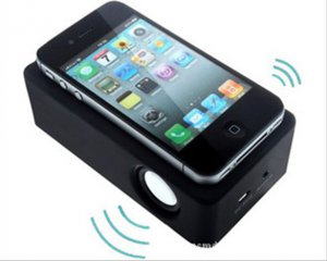 Portable Amplifying Speakers Magic Wireless Audio Boose Near-Field Audio iPhone Android Smartphone