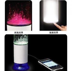 LED Water Speaker USB Touch Sensor Change Color Spray Speaker Incredible Fountain Mini Music Speaker