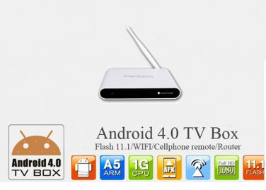 google tv Android 4.0.3 A6II TV Box Support 3D accelerate, support Wireless keyboard/mouse,Wifi