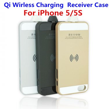 Qi Standard Wireless Charger Adapter Wireless Charging Receiver Case for Apple iPhone 5/5S