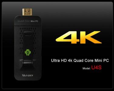 Measy U4S Android Mini PC Quad Core 2K*4K HD Hardware Decoding 3D Blue-ray TV Box Media Player