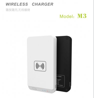 Qi Wireless Charger Wireless Charging Pad With 7000mAh Power Bank M3 for Galaxy S6 S5 Note4  Nexus 6
