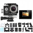 WiFi Sports Camera 1080P Full HD 12MP Waterproof DV Action Video Recorder W8 Gopro SJ4000 Black