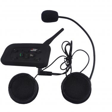1200M 1 to 5 Riders Skiing Bicycle Motorcycle Helmet Snowmobile Wireless Intercom Interphone Headset