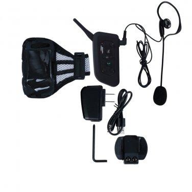 1 to 5 Users Bluetooth 3.0 Wireless Intercom Interphone with FM Radio for Referee Snowmobile Helmet