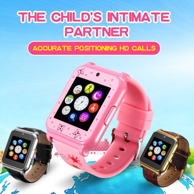 Christmas Gift colorful Children Smart Bracelet Watch Support SIM Card GSM/GPRS 850/900/1800/1900MHz