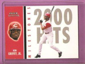 2003 03 Fleer Tradition Milestones Ken Griffey Jr Card #15 of 25 MS  NM/MT