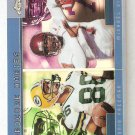 2001 Topps Chrome Hardcore Hokies Michael Vick Antonio Freeman Refractor Card # TC13