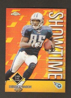 2001 Topps Chrome Refractor Derrick Mason Showtime TS 1