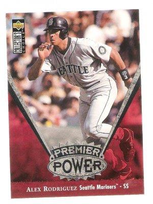 1998 Alex Rodriguez Collectors Choice Premier Power Card #PP18