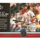 2002 Upper Deck Albert Pujols Greatest Hits Card #GH3