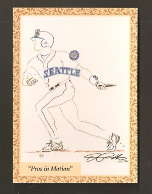 1998 Alex Rodriguez Pros in Motion SI Then And Now Art Of The Game Card # 2AG