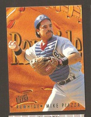 1996 Fleer Ultra Mike Piazza Rawhide Card #8 NM/MINT Plus