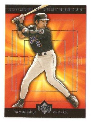 2002 Upper Deck Tsuyoshi Shinjo Breakout Performers Card #BP5  NM/MINT