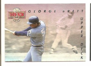 1993 Upper Deck George Brett Then And Now Card #TN2  NM