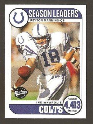 2001 Peyton Manning Upper Deck Vintage Season Leaders Card # 196  MINT