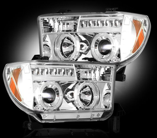 Part # 264194CL - CLEAR Projector Headlights Toyota Tundra 07-12 & Sequoia 08-12