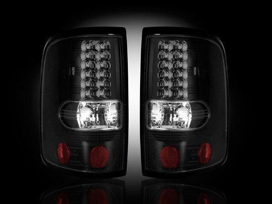 Part # 264178BK SMOKED LED Tail Lights Ford F150 04-08