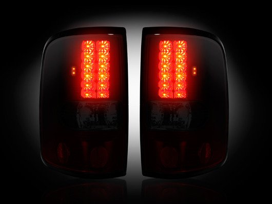 Part # 264178RBK RED SMOKED LED Tail Lights Ford F150 04-08