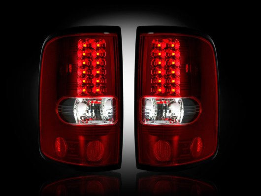 Part # 264178RD RED LED Tail Lights Ford F150 04-08
