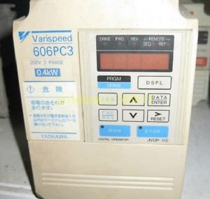 Yaskawa inverter 606PC3 CIMR-PCA20P4 220V 0.4KW for industry use
