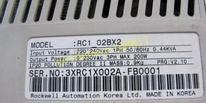 Samsung RC1-02BX2 servo driver 200W good in condition for industry use